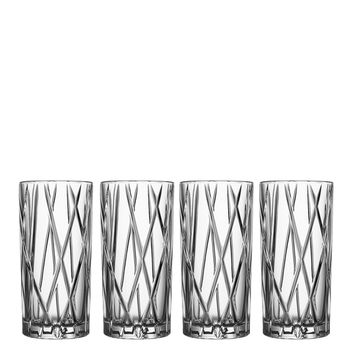 City High Ball Glasses - Set of 4