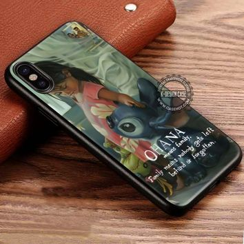 Ohana Means Family Lilo and Stitch Quote iPhone X 8 7 Plus 6s Cases Samsung Galaxy S8 Plus S7 edge NOTE 8 Covers #iphoneX #SamsungS8