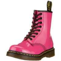 Dr. Martens 1460 Originals Eight-Eye Lace-Up Boot,Hot Pink Patent Lamper,4 UK / 5 M US Mens / 6  M US Womens