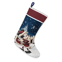 Disney Parks Mickey Minnie Kissing Stocking Castle Holiday Christmas New w Tags