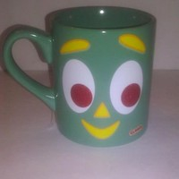 GUMBY GLITTER COFFEE MUG CUP COLLECTIBLE