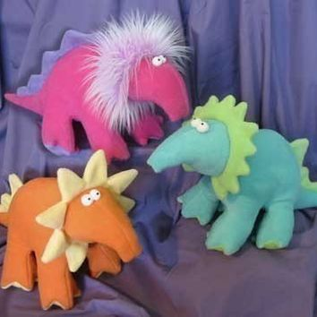 Dippy Dinosaurs Snugglies Plushies Toy by FunkyFriendsFactory