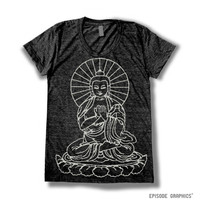 Buddha Print (American Apparel Tri-Blend T-Shirt -- 6 Colors Available)