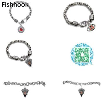 Fishhook 8 styles Enamel Crystal Men bracelet Cincinnati Bengals Jewelry Zinc Alloy Pendant Jewelry for Men and Women