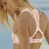 The Girl and The Water - Mikoh Swimwear - Barbados Bikini Top / Water Snake Coral - $100