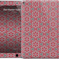 Red Marker Kaleidoscope Pattern iPad Skins by Tanya Legere | Nuvango