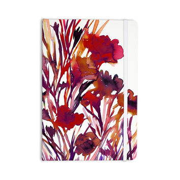 "Ebi Emporium ""Pocket Full Of Posies Red"" Maroon Purple Everything Notebook"