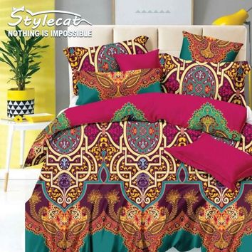 4pcs Bedding Set Duvet Cover Set Queen Size