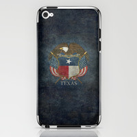 Texas flag and eagle crest - original vintage design by BruceStanfieldArtist iPhone & iPod Skin by Bruce Stanfield