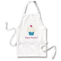 Want Some? Cupcake Apron from Zazzle.com