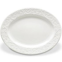 "Opal Innocence Carved 16"" Large Oval Platter by Lenox"