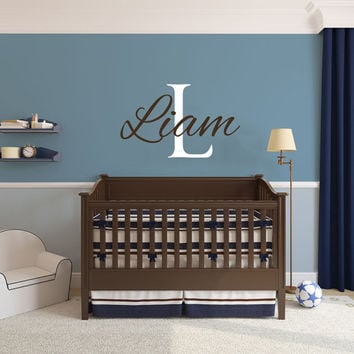 Name Wall Decals - Boys Room - Baby Wall Decals - Personalized Name Decal - Wall Decal Nursery - Baby Name Decal - Boys Wall Decals AN627