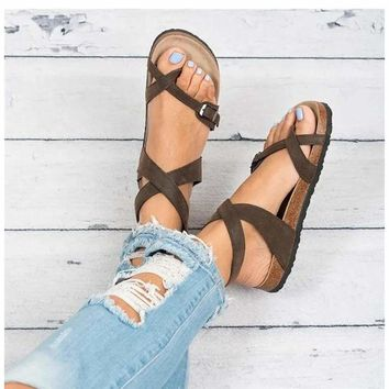 Women Summer Flat Beach Shoes Flop Sandals