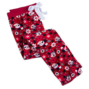 Santa Mickey and Minnie Mouse Fleece Pants for Women | Disney Store