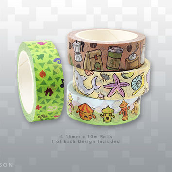 Washi Crossing Tape Set