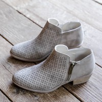 Sochi Perforated Boot, Taupe