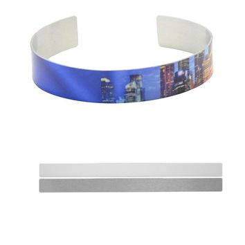 cuff bracelets for sublimation fashion sublimation aluminum bangle for thermal transfer printing customizable diy blank jewelry