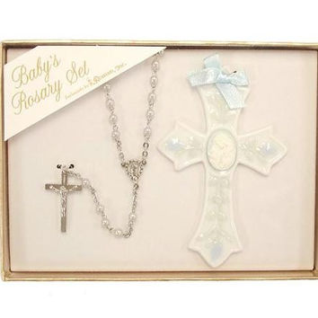 4 Rosary And Cross Sets - Baby Boy