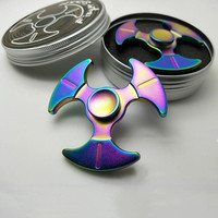 Rainbow EDC Hand Spinner Tri Fidget Focus Desk Toys Anti Stress
