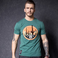 Short Sleeve Summer Cotton Men's Fashion Round-neck Fashion T-shirts [10488641859]