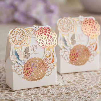 Wedding Decoration Candy Box Small Size Laser Cut Paper Favors