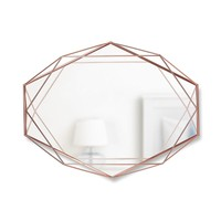 Umbra Prisma Wall Mirror, Copper