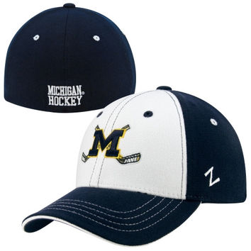 Zephyr Michigan Wolverines Freeze Hockey Z-Fit Hat - Navy Blue