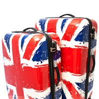 Union Jack Hard Shell Luggage Set