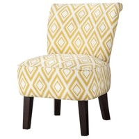 Threshold™ Rounded Back Chair - Summer Wheat Diamond Ikat