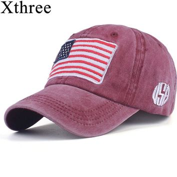Xthree fashion Baseball Cap men's  Snapback Hats For women Hip hop Gorras bone  Embroidered National flag Hat Caps Casquette cap