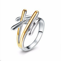 Abstract Branch Design Ring