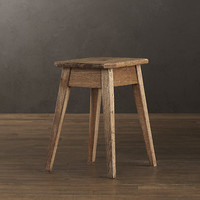 Oak Backless Stool