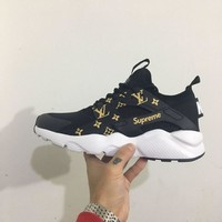Nike Air Supreme x LV x Huarache men/women running shoes color black