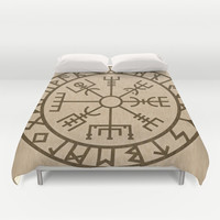 Old Norse Viking symbols of protection by healinglove Duvet Cover by Healinglove art products