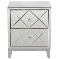 Worlds Away Dylan Mirrored Side Table