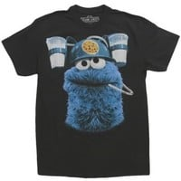 Cookie Monster Drinking Milk T-Shirt