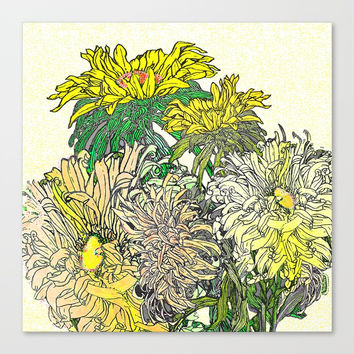 With Flowers Canvas Print by anipani
