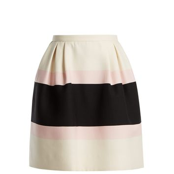 Baiadera-stripe silk crepe skirt | Valentino | MATCHESFASHION.COM UK