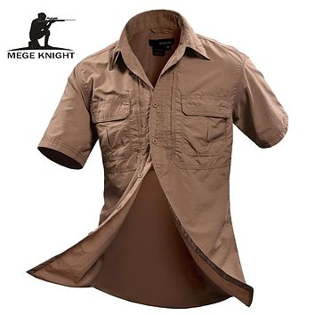 Summer Men Shirt Military Men Short Sleeve Shirt Casual Shirt Mens Social Clothing
