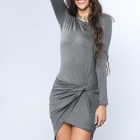 Draping Point Slim Dress