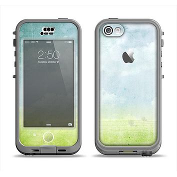 The Water-Color Painting of Meadow Apple iPhone 5c LifeProof Nuud Case Skin Set