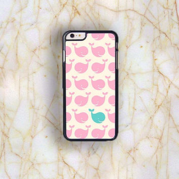 Dream colorful Dream colorful Pink Little Whale Plastic Case Cover for Apple iPhone 6 Plus 4 4s 5 5s