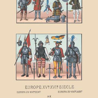 An Assortment of Military Costumes of the Renaissance 12x18 Giclee on canvas