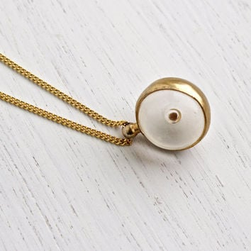 Best mustard seed jewelry products on wanelo vintage mustard seed pendant necklace 1960s gold tone clear lucite globe costume jewelry faith aloadofball Image collections