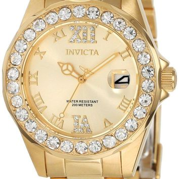 Invicta Pro Diver Crystal Accented Quartz 200M 15252 Women's Watch