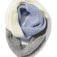 Old Navy Color Block Inifinity Scarf Size One Size - Blue/grey Heather