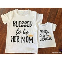 Mommy/Daughter Blessed T-Shirt Set