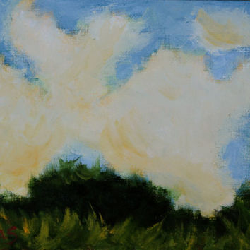 Oil Painting - Original - Honeyscolors - Sky and Clouds - Landscape - Abstract - Original Artwork