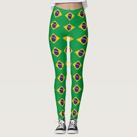 Leggings with flag of Brazil