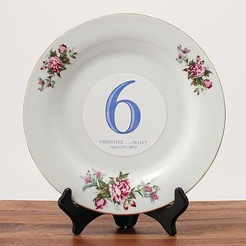 Classic Table Number Diecut Removable Vinyl Numbers 13-18 Vintage Gold (Pack of 6)